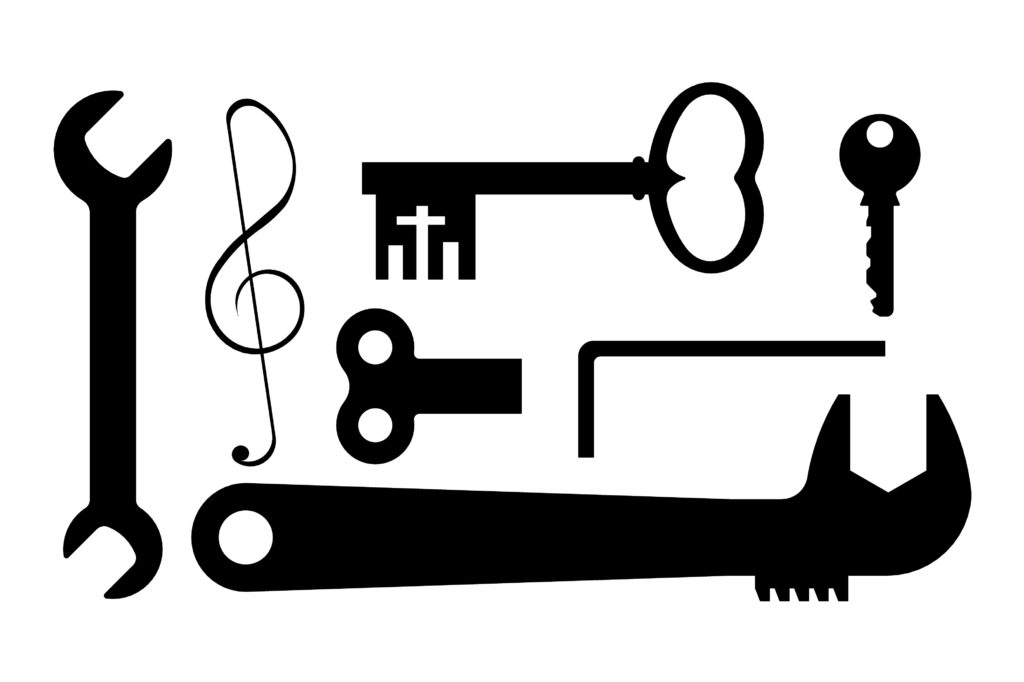 la clé est un symbole de solution