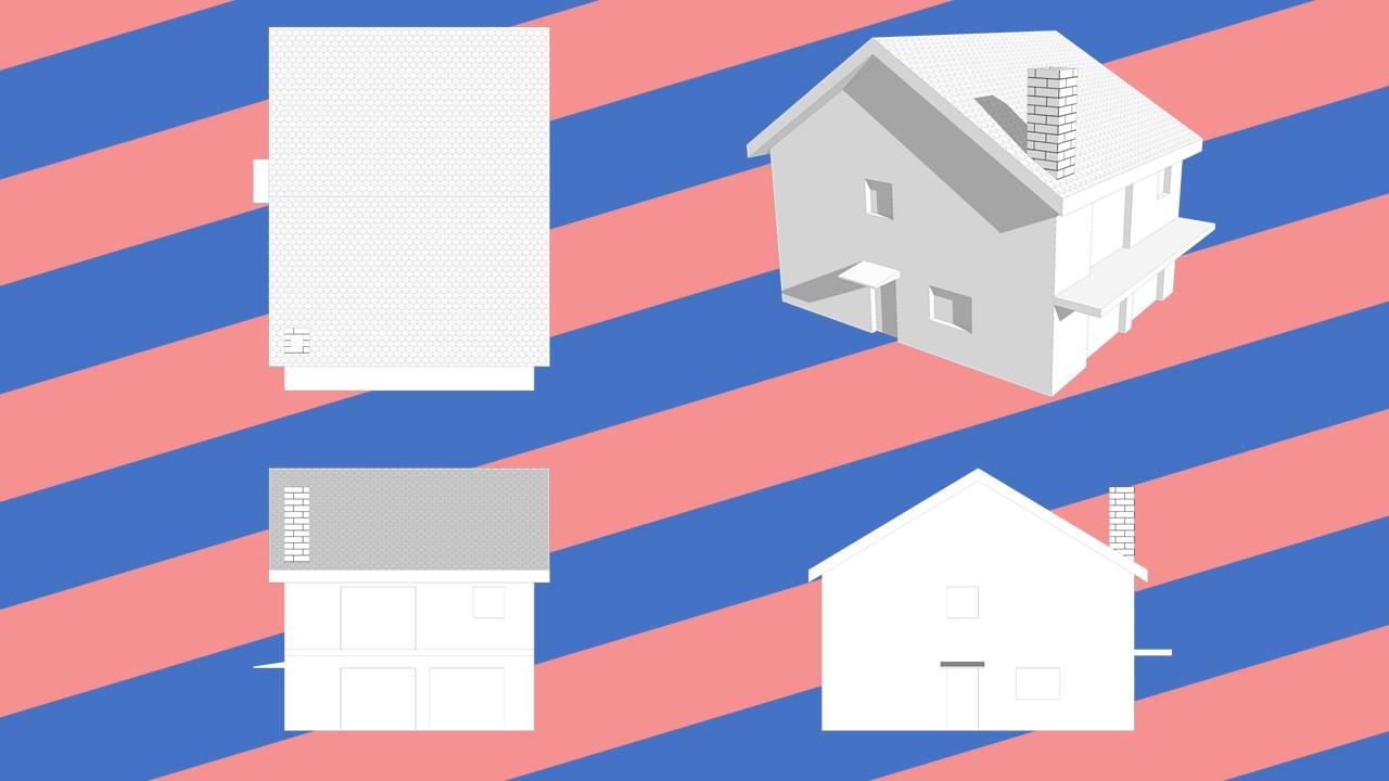 illustration maison export ortho